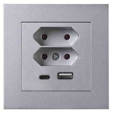 Elko Plus USB Euro laddstation Alu