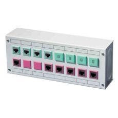 Schneider Electric Patchbox, 2 Rader 16 Portar